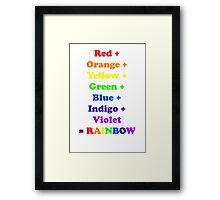 = Rainbow Framed Print