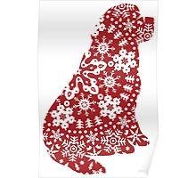 Newfoundland Christmas Snowflakes Poster
