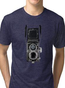 Vintage Rolleiflex Automat MX-EVS Model K4B Twin Lens Film Camera Tri-blend T-Shirt