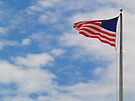 American Flag in a cloudy sky by BCallahan