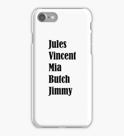 Pulp Fiction Characters iPhone Case/Skin