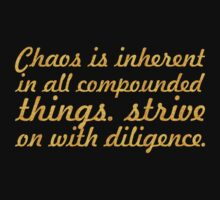"Chaos is inherent... ""Buddha"" Inspirational Quote Baby Tee"