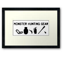 Monster Hunting Gear - Stranger Things Framed Print