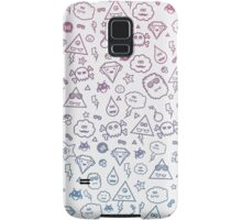 Crazy and Cute Monster Patter in blue pink Samsung Galaxy Case/Skin