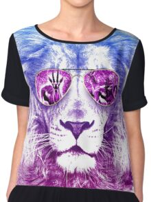 Tackle The Gazzle Says Mr. Lion Chiffon Top
