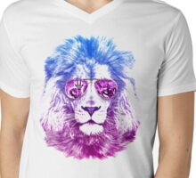 Tackle The Gazzle Says Mr. Lion Mens V-Neck T-Shirt