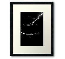 Lightning Makes no Sound Framed Print