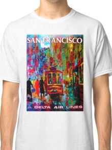 """DELTA AIR LINES"" Fly to San Francisco Print Classic T-Shirt"