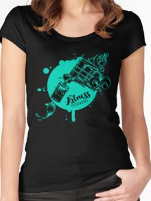 The Artness Colorworks - Art Is Life ( TEAL ) Women's Fitted Scoop T-Shirt