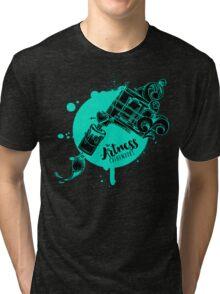 The Artness Colorworks - Art Is Life ( TEAL ) Tri-blend T-Shirt