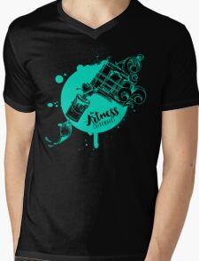 The Artness Colorworks - Art Is Life ( TEAL ) Mens V-Neck T-Shirt