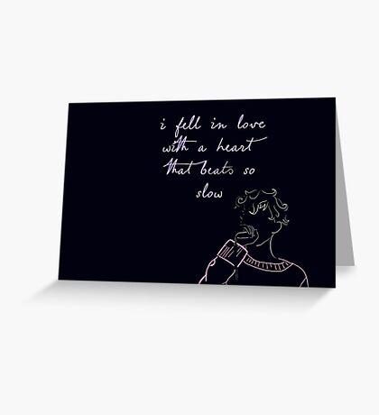Blue - Troye Sivan Greeting Card