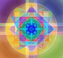 Harmonic Oscillator Mystery Mandala by Iva Penner