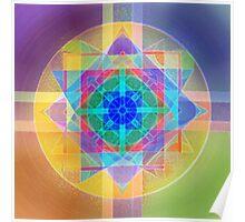 Harmonic Oscillator Mystery Mandala Poster