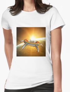 Alien City in space Womens Fitted T-Shirt