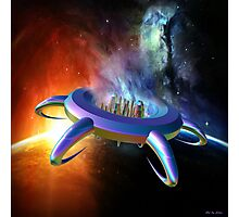 Ufo in space Photographic Print