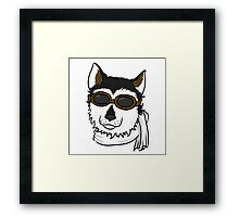 Pilot Husky Portrait Framed Print