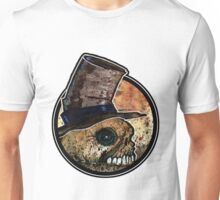 Skull in a top hat Unisex T-Shirt