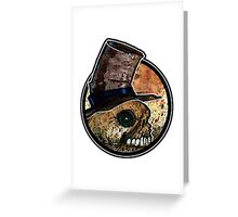 Skull in a top hat Greeting Card