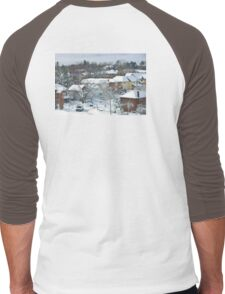 The Morning after a Big Snowstorm in Toronto, ON, Canada Men's Baseball ¾ T-Shirt