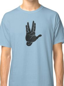 Spocks Hand Galaxy Classic T-Shirt