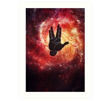 Spocks Hand Galaxy Art Print