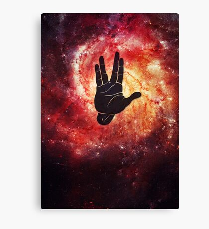 Spocks Hand Galaxy Canvas Print