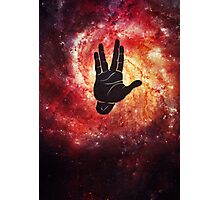 Spocks Hand Galaxy Photographic Print
