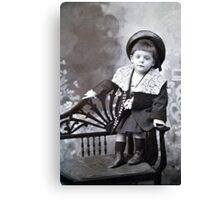 The cute little boy Canvas Print