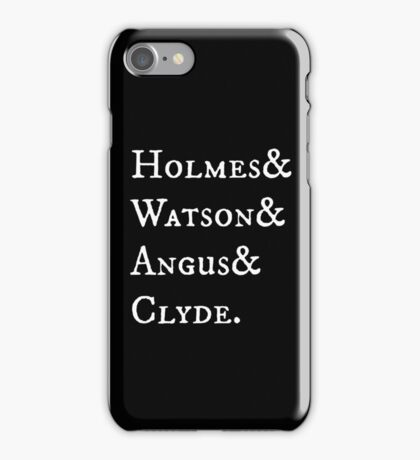 Elementary Holmes & Watson Antique iPhone Case/Skin