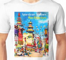 """""""AMERICAN AIRLINES"""" Fly to San Francisco Advertising Print Unisex T-Shirt"""