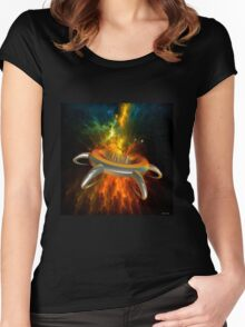Alien City In Space Women's Fitted Scoop T-Shirt