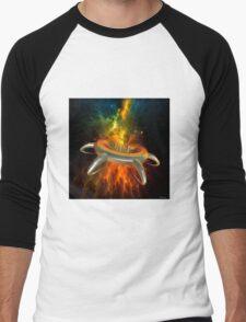 Alien City In Space Men's Baseball ¾ T-Shirt