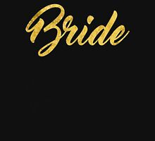 White Gold Foil Wedding Bachelorette Party Hens Night Bachelor Bride Groom Family Bridal Script Unisex T-Shirt