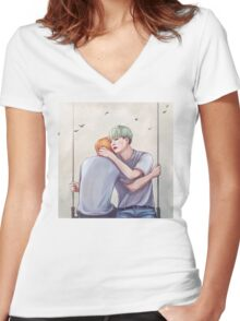 Yoonmin Commission  Women's Fitted V-Neck T-Shirt