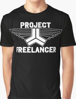 Red vs Blue: Project Freelancer (white) Graphic T-Shirt