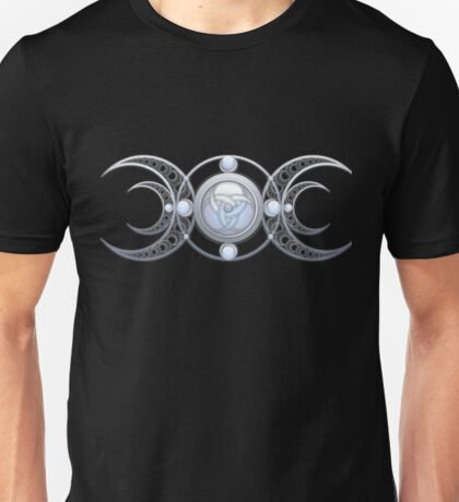 Crescents and Moonstone Triple Goddess Unisex T-Shirt
