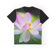 Close Up View of a Blooming Lotus Flower Graphic T-Shirt