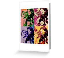Charlie's Angels Pop Art Greeting Card