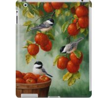 Bird Painting - Apple Harvest Chickadees iPad Case/Skin