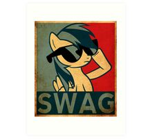 Rainbow dash SWAG Art Print