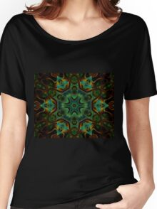 Peacock green mandala Women's Relaxed Fit T-Shirt