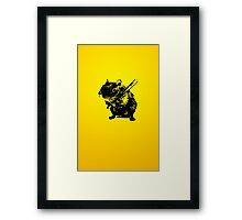 Angry mouse Framed Print