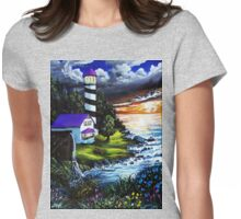 the morning light Womens Fitted T-Shirt