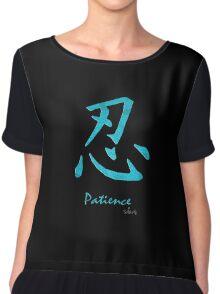 Patience in Kanji 3H Chiffon Top