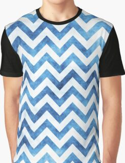 Chevron Pattern, Chevron Print, in blue and white Graphic T-Shirt