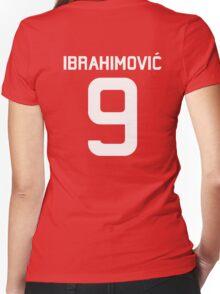 Ibrahimovic #9  Women's Fitted V-Neck T-Shirt
