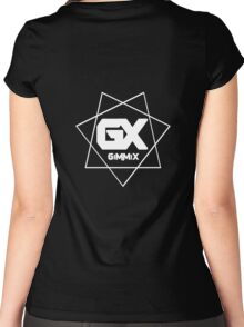 GiMMiX Logo (White on Black) Women's Fitted Scoop T-Shirt