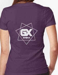GiMMiX Logo (White on Black) Womens Fitted T-Shirt
