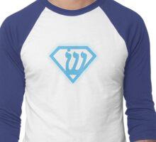 Superman Logo Redesign Men's Baseball ¾ T-Shirt